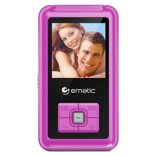 Ematic EM208VID 8 GB Pink Flash Portable Media Player