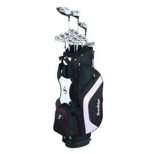 Tour Edge Golf Men's Black Reaction 3 Bag and Club Set