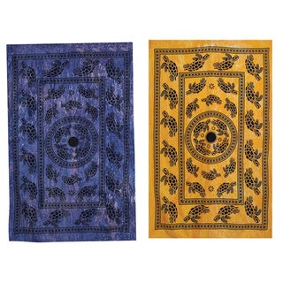 Tutrle March Cotton Tapestry , Handmade in India