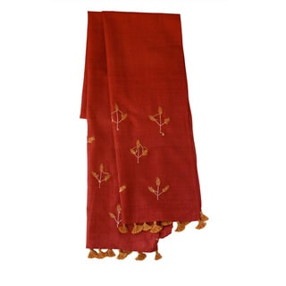 Sustainable Threads Golden Tulsi Hand-woven Scarf