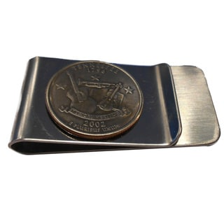 Antiqued Tennessee State Quarter Money Clip
