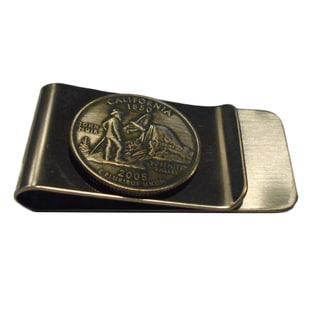 Handmade California State Quarter Coin Money Clip