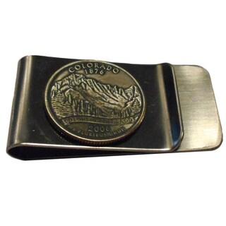 Handmade Colorado State Quarter Coin Money Clip