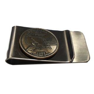 Louisiana State Quarter Coin Money Clip