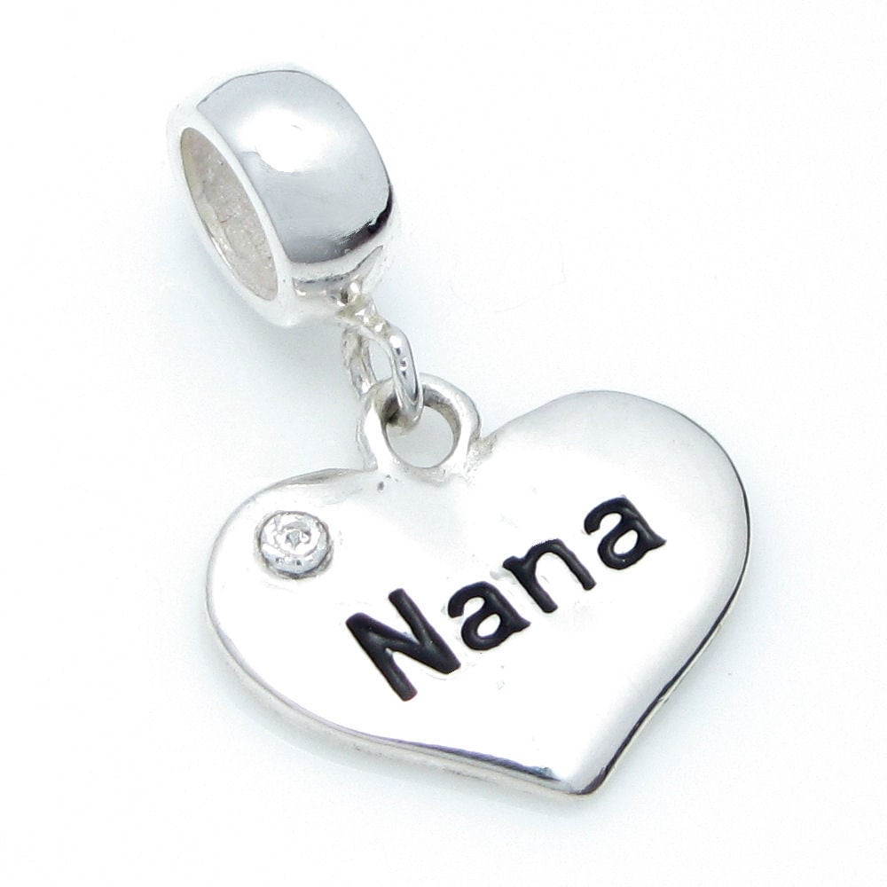 Queenberry Sterling Silver Nana Heart Love Cubic Zirconia...