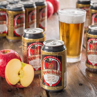 Apple Beer Non-Alcoholic Sparkling Ale (Pack of 12)