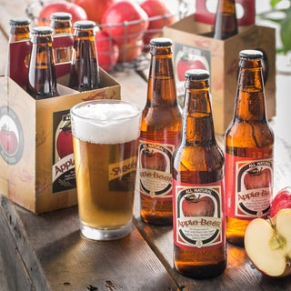 Apple Beer Alcohol-free Glass Bottle Sparkling Ale (Pack of 8)