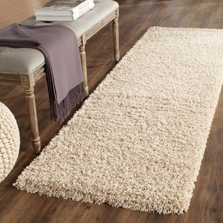 safavieh california cozy solid beige shag rug 23 x 19 california shag black 4 ft