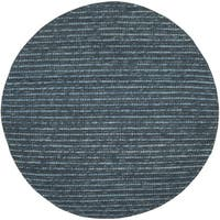 Safavieh Hand-knotted Bohemian Dark Blue/ Multi Hemp Rug - 8' Round