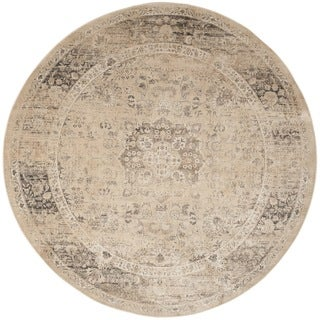 Safavieh Vintage Warm Beige Viscose Rug (8' Round)