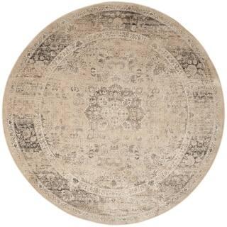 Safavieh Vintage Oriental Warm Beige Distressed Silky Viscose Rug (8' Round)|https://ak1.ostkcdn.com/images/products/9954319/P17108144.jpg?impolicy=medium