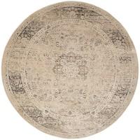 Safavieh Vintage Oriental Warm Beige Distressed Silky Viscose Rug - 8' Round