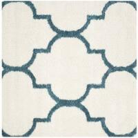 Safavieh Kids Shag Ivory/ Blue Rug - 6'7 Square