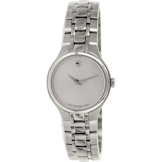 Movado Women's 0606451 Metallic Stainless Steel Swiss Quartz Watch