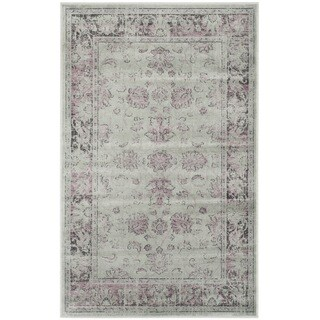 Safavieh Vintage Oriental Grey/ Amethyst Distressed Silky Viscose Rug (2' x 3')