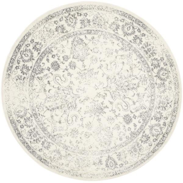 Safavieh Adirondack Vintage Distressed Ivory / Silver Rug (10u0027 Round)