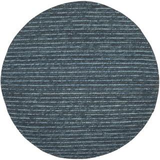 Safavieh Hand-knotted Bohemian Dark Blue/ Multi Hemp Rug (4' Round)