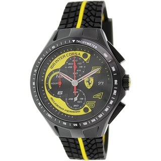 Ferrari Men's 0830078 Black Rubber Quartz Watch