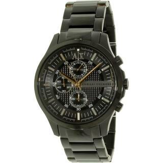 Armani Exchange Women's Smart AX2138 Black Stainless Steel Quartz Watch|https://ak1.ostkcdn.com/images/products/9954447/P17108208.jpg?impolicy=medium