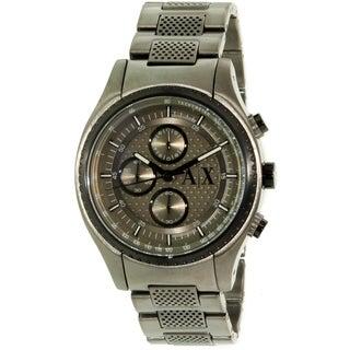 Armani Exchange Men's AX1606 Grey Stainless Steel Quartz Watch