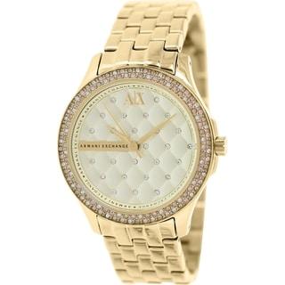 Armani Exchange Women's AX5216 Goldtone Stainless Steel Quartz Watch