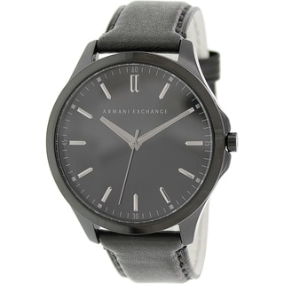 Armani Exchange Men's AX2148 Black Leather Quartz Watch