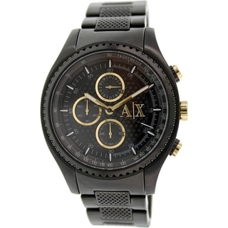 Armani Exchange Men's AX1604 Black Stainless Steel Quartz Watch