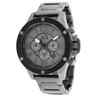 Armani Exchange Men's AX1514 Grey Stainless Steel Quartz Watch|https://ak1.ostkcdn.com/images/products/9954461/P17108221.jpg?impolicy=medium
