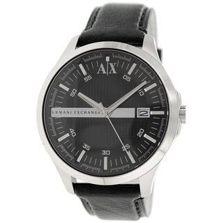 Armani Exchange Men's AX2101 Black Leather Quartz Watch|https://ak1.ostkcdn.com/images/products/9954465/P17108225.jpg?impolicy=medium