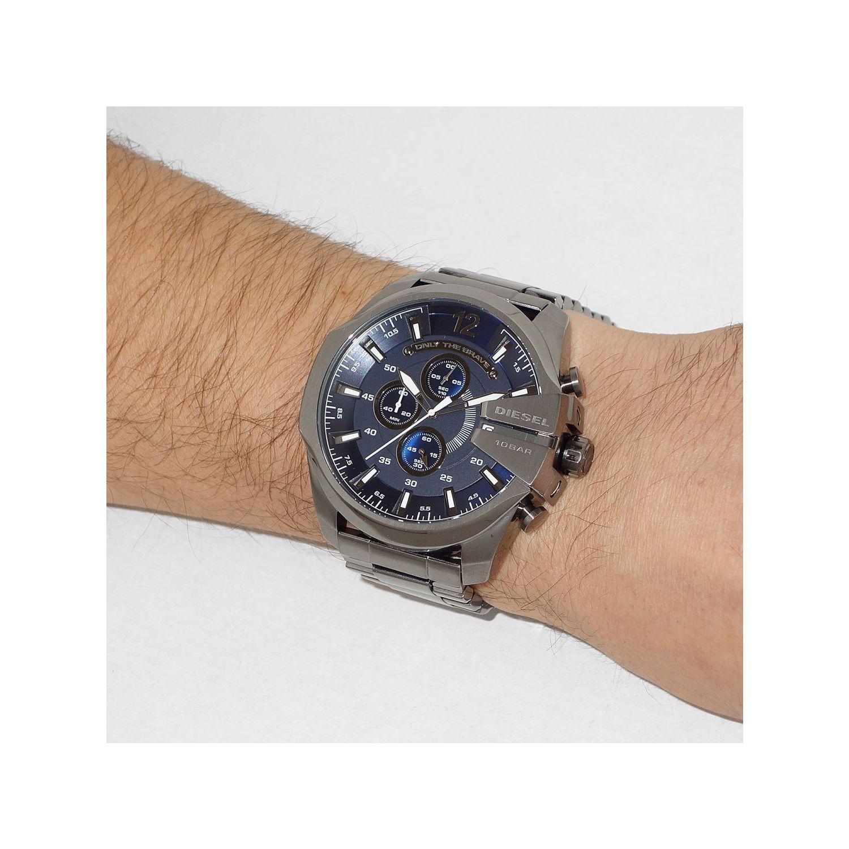 c28684aa0 Shop Diesel Men's Mega Chief DZ4329 Gunmetal Stainless Steel Quartz Watch -  Free Shipping Today - Overstock - 9954576