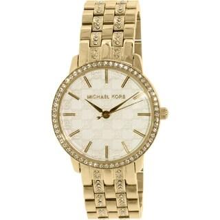 Michael Kors Women's Wren MK3214 Goldtone Stainless Steel Quartz Watch