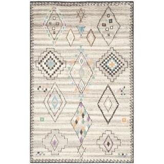 Safavieh Handmade Kenya Natural/ Multi Wool Rug (9' x 12')