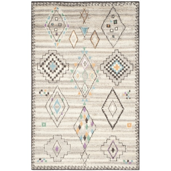 Safavieh Handmade Kenya Natural/ Multi Wool Rug - 9' x 12'