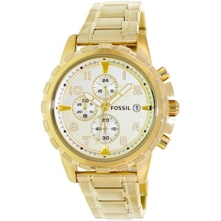 Fossil Men's Dean FS4867 Goldtone Stainless Steel Quartz Watch