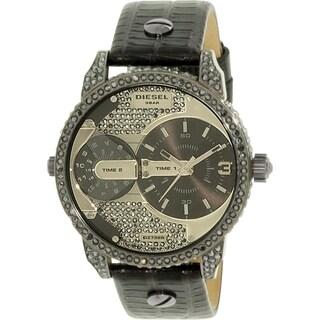 Diesel Women's Mini Daddy DZ7328 Black Leather Quartz Watch
