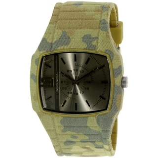 Diesel Men's Trojan DZ1671 Green Rubber Quartz Watch