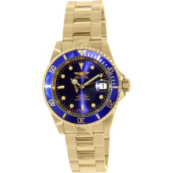e7fa1152d Shop Invicta Men's Pro Diver Goldtone Stainless Steel Automatic Watch - Free  Shipping Today - Overstock - 9954624