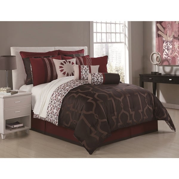 Jourdan 10-piece Jacquard Comforter Set