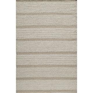 Momeni Mesa Beige Hand-Woven Wool Reversible Rug (9' X 12') - 9' x 12'