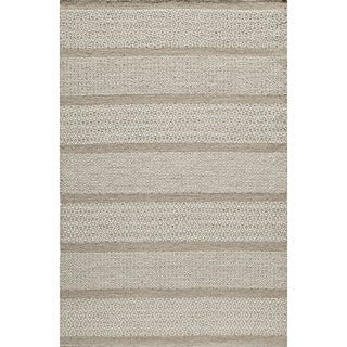 Sorrel Diamond Stripe Reversible Indoor Hand-woven Wool Rug (9' x 12')