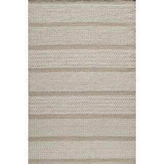 Momeni Mesa Beige Hand-Woven Wool Reversible Rug (9' X 12')