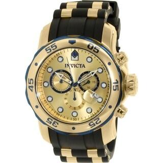 Invicta Men's Pro Diver 17887 Black Rubber Swiss Chronograph Watch