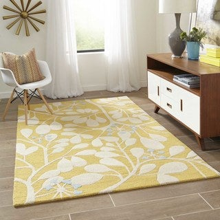 Saronic Branches Hand-tufted Wool Area Rug (7'6 x 9'6)