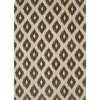 Softique Diamond Hand-tufted Area Rug (7'6 x 9'6)