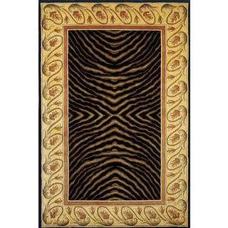 New Wave Animal Print Hand-tufted Wool Rug (7'6 x 9'6)