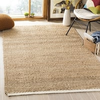 Safavieh Casual Natural Fiber Hand-Woven Ivory / Natural Jute Rug - 8' x 10'