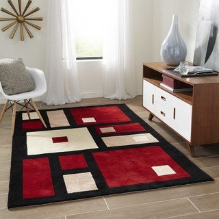 New Wave Casino Hand-tufted Wool Rug (7'6 x 9'6)