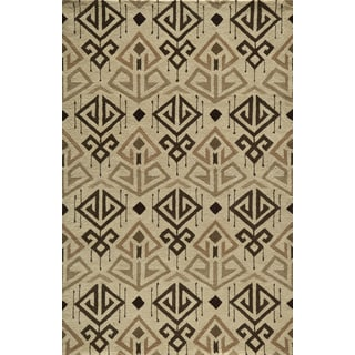 Global Angren Hand-tufted Wool Area Rug (8' x 10')