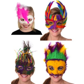 Feather Mask Assorted Mix