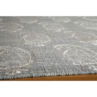 Needlepoint Paisley Flat Weave Reversible Wool Area Rug (8' x 10')